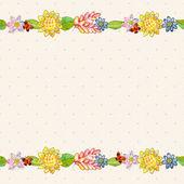 Cartão em aquarela de flor — Foto Stock