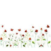 Tarjeta acuarela flor — Foto de Stock
