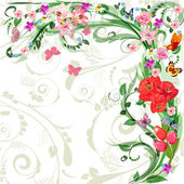 Floral pattern for your design — Stock Vector