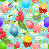 Easter seamless texture with eggs — Stock Vector