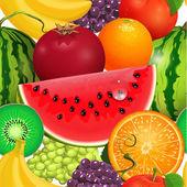 Seamless texture juicy fruit — Stock Vector