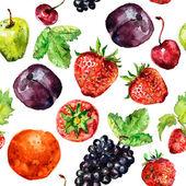 水彩画の果物 — ストックベクタ