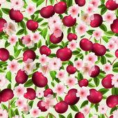Textura de cereza — Vector de stock