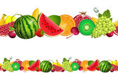 Seamless border of fruit — Vecteur