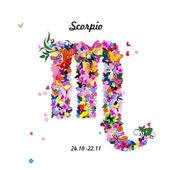 знак зодиака - скорпион — Cтоковый вектор