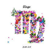 Zodiac sign - virgo — Vettoriale Stock