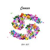 Dierenriemteken - kanker — Stockvector