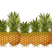 Border of pineapples — Stock Vector