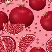 Texture of pomegranate — Vector de stock