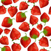 Seamless texture of strawberries — 图库矢量图片