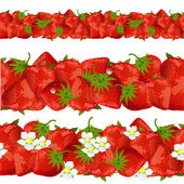 Seamless border of strawberry — 图库矢量图片