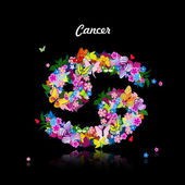Zodiac sign cancer — Stock Vector