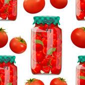Preserve tomato — Stock Vector