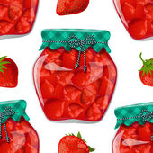 Preserve strawberry — Stock Vector