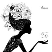 Zodiac sign cancer — Vecteur