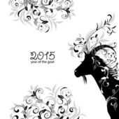 2015 year of goat — Stock Vector
