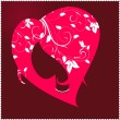 Female head to the heart — Vector de stock  #8900316