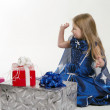 Stock Photo: Girl with gifts
