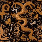 Draconian ornament — Stock Vector
