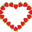 Stock Photo: Strawberry heart