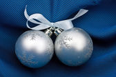 Two silvery fur-tree spheres — Stock Photo