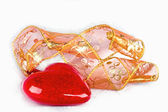 Ornament in the form heart and a tape — Стоковое фото