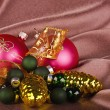 Stock Photo: New Year's spheres, cones