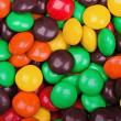 Colorful chocolat tabs close-up — Stock Photo