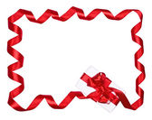 Red Bow and gift — Stock Photo