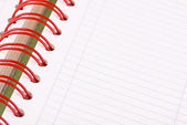 Daily planner, notebook. White and red — Stock Photo