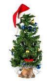 Singing Christmas fur-tree — Stock Photo