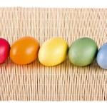 Multi coloured eggs close up — Stock Photo #27841589