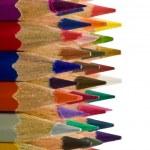 Set of wooden colour pencils — Stock Photo