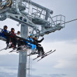 On the ski lift — Stock Photo