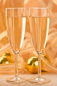 A glass of champagne — Stock Photo