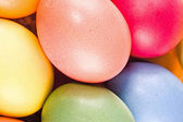 Structure from multi coloured eggs — Stock Photo