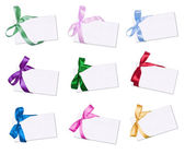The cards decorated with bows — Stock Photo