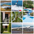 Stockfoto: Beautiful tropic lifestyle collage