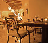 Interior of a restaurant — Stock Photo