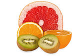 Composition from fruit isolated — Stock Photo