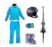 Set of things for downhill skiing — Stock Photo