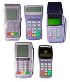 Payment terminals for payment of purchases — Stock Photo