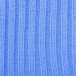 Knitted blue cloth close up, a background — Stock Photo