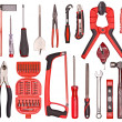 Stock Photo: A Set of a lot of different tools