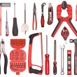 A Set of a lot of different tools — Stock Photo
