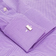 Sleeve of a shirt with a cuff link close up — Stock Photo