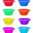 Set of color bowls — Stock Photo