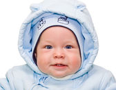 Portrait of beautiful baby in winter time — Stock Photo