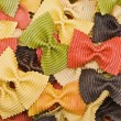 Multi-colored pasta in the form of bows — Foto de Stock