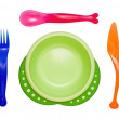 Bright children's ware on the white background — Stock Photo